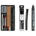 Kresba - skicovací sady, tužky, uhly